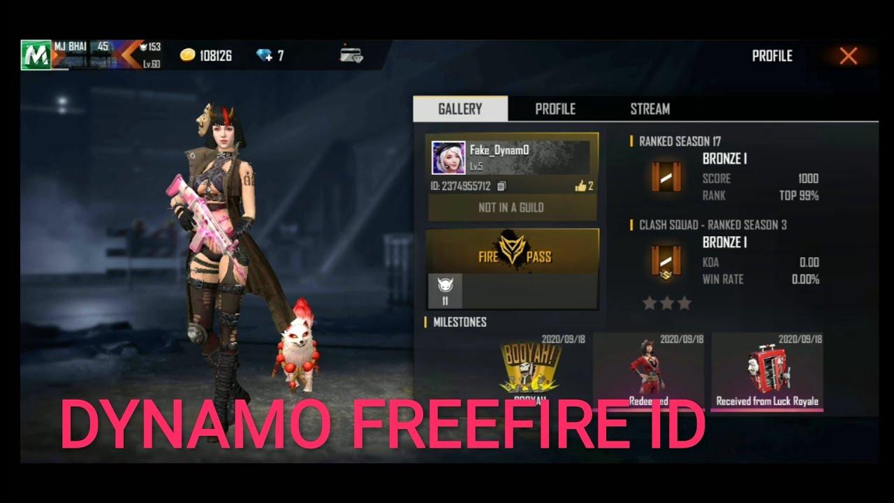 Dynamo Free Fire Id Number Uid Number Of Dynamo Freefire Youtube