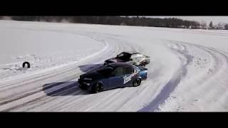 Vonodzinu Ziemas Drift trenins ar Zagiem Lake Ice Drift full Video