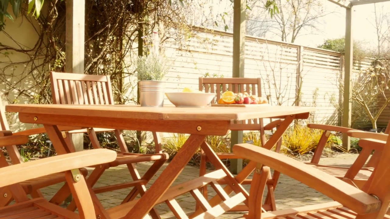 Robert Dyas Country Hardwood 6-Seater FSC Wood Garden Furniture Set - Robert Dyas Country Hardwood 6-Seater FSC Wood Garden Furniture Set