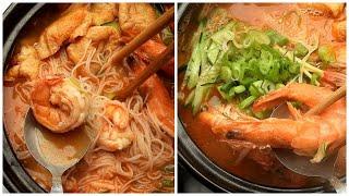 Super Food - Easy Shrimp Soup with Rice Noodle - Prawn Noodle Soup Recipe