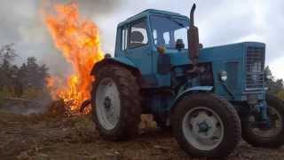 Как сделать костер трактором