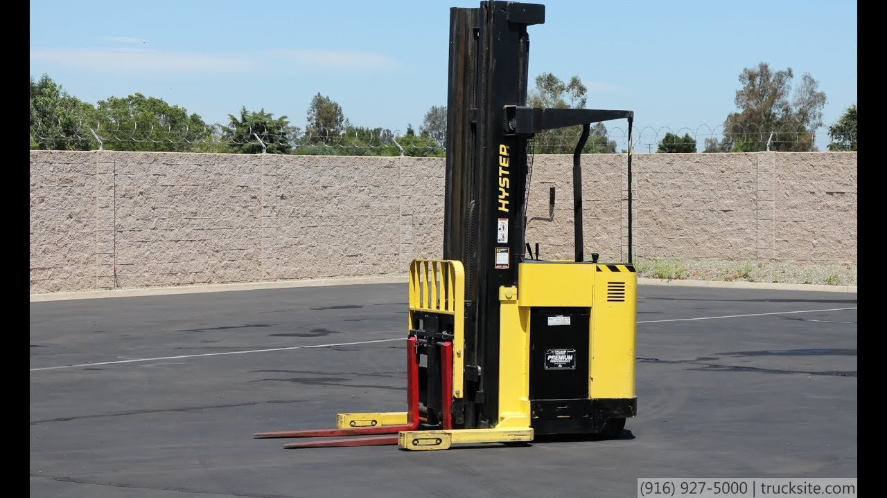 Used Hyster N45xmr Stand Up Reach Forklift Youtube