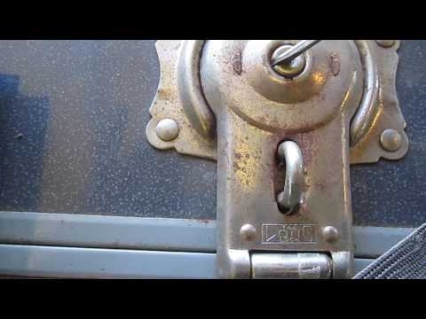 How to Open an Old Vintage Antique Trunk or Chest Lock