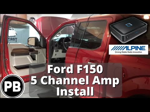 2015 2018 ford f150 alpine 5 channel amp and sub install 2015 2018 ford f150 alpine 5 channel amp and sub install