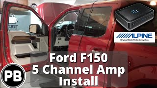 2015 - 2018 Ford F150 Alpine 5 Channel Amp and Sub Install