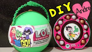 LOL Big Surprise DIY de Teen Titans Go! Jovenes Titanes en Acción - Juguetes con Andre