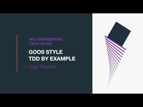 GOOS Style TDD By Example - Sagy Rozman