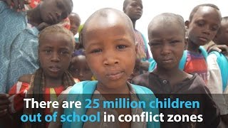 25 million children live without education in war zones