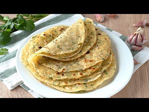 Tortillas de harina con ajo y finas hierbas ¡Muy BLANDITAS! Ideales para fajitas, tacos, burritos