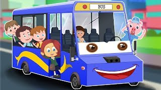 Wheels On The Bus | Schoolies  Cartoon Video For Children | Nursery Rhymes by Kids Channel