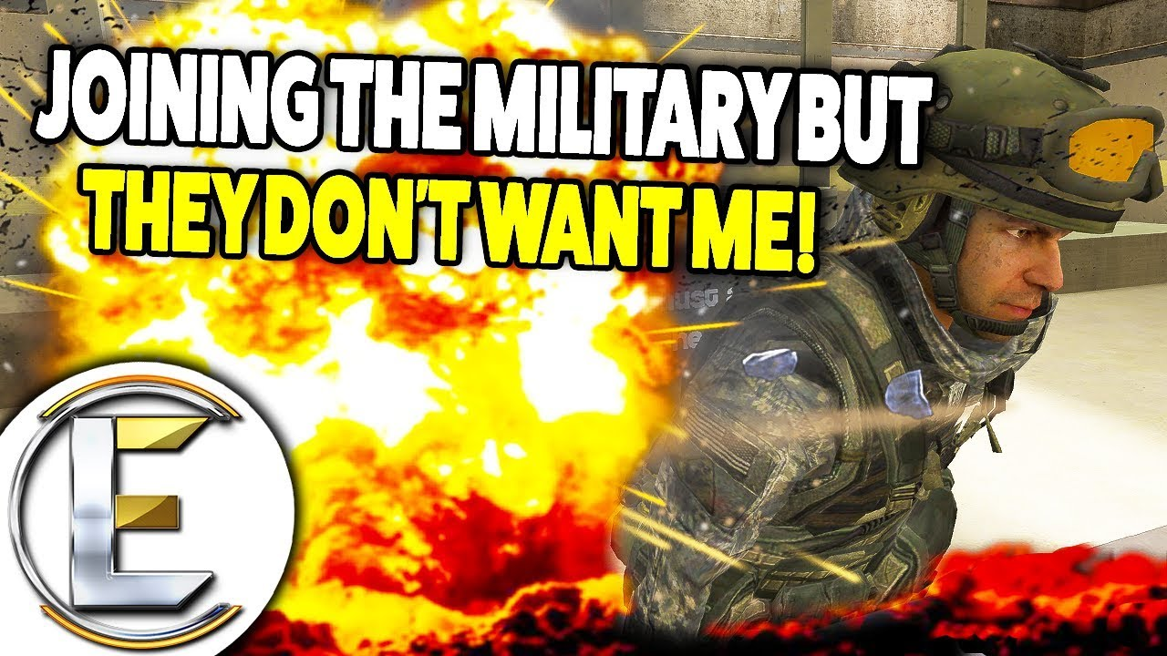 MILITARY RP - Joining The Military But They Don't Want Me (Gmod Army RP)