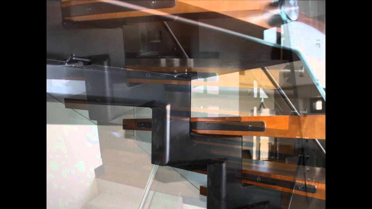 Staircase With The Steel Stringer In The Middle   YouTube