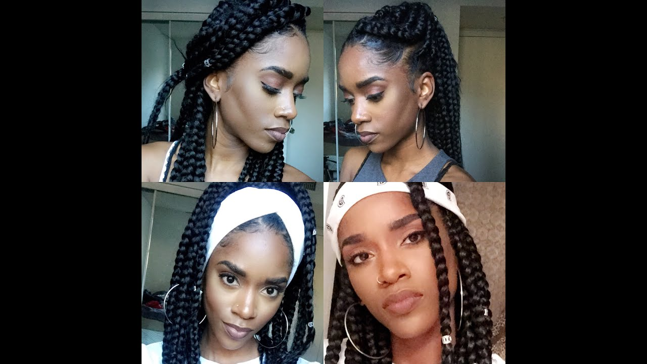 how to style your hair with braids how to style your jumbo box braids 6803