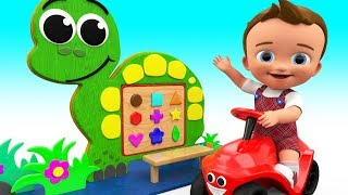 Colors & Shapes Learning for Children with Little Baby Wooden Tortoise Board ToySet 3D Kids Edu