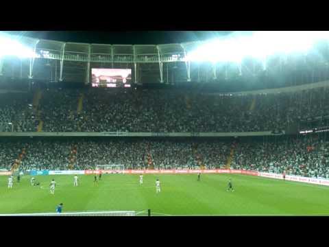 Beşiktaş Alanya maçında tribünler coşarken 4. Golün gelişi