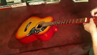 cheap strings on a cheap guitar