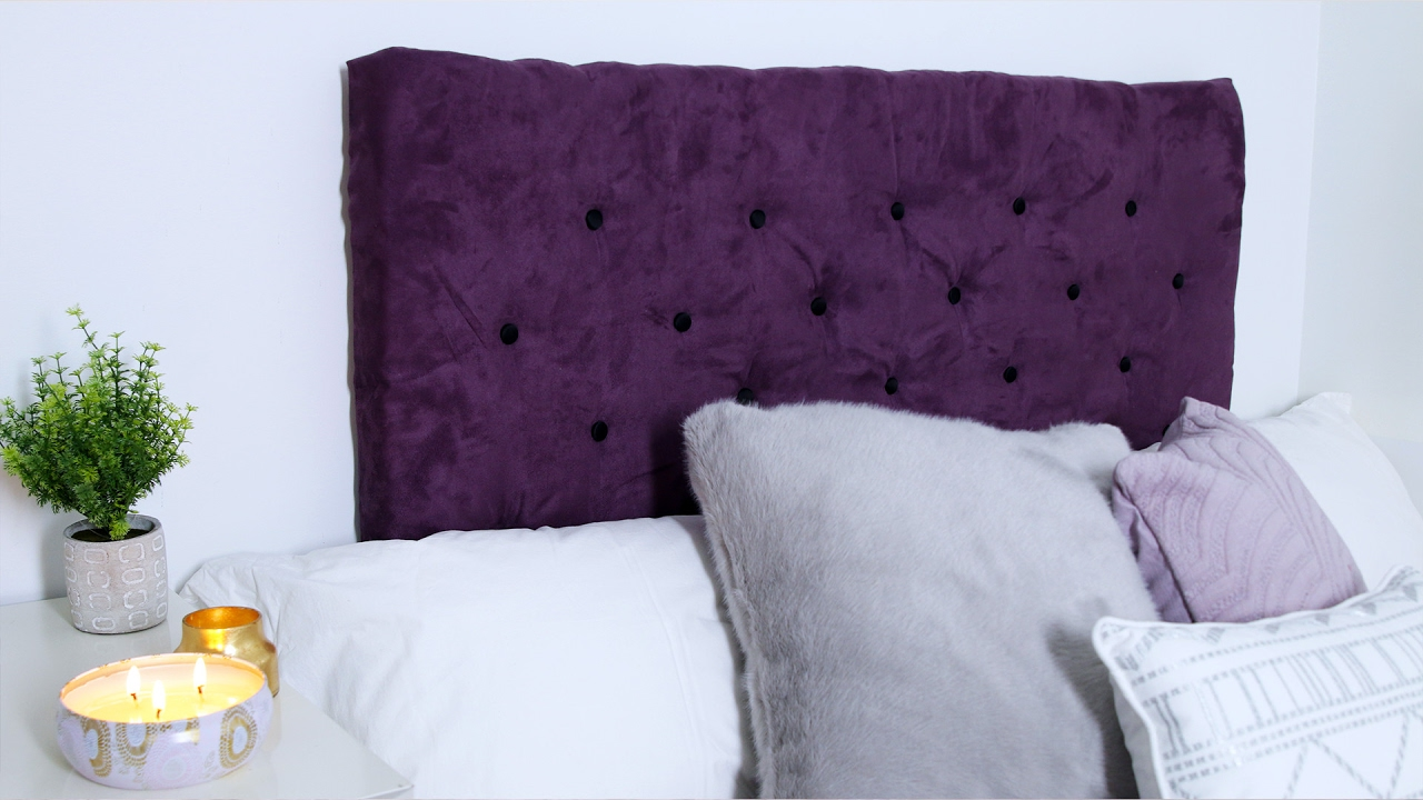 Design Purple Tufted Headboard diy tufted headboard youtube headboard