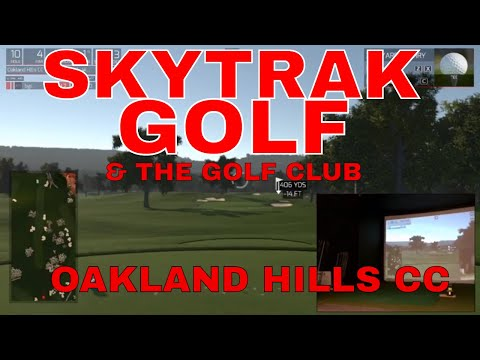 SKYTRAK and TGC playing golf at US Open & Ryder Cup venue Oakland Hills