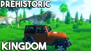 Prehistoric Kingdom - BUILD THE MOST REALISTIC JURASSIC WORLD!, MAKING A REX PEN, JEEPS! - Gameplay
