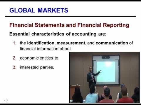 المحاضرة (1) : Financial Reporting and Accounting Standards / أ  . ليث شروف