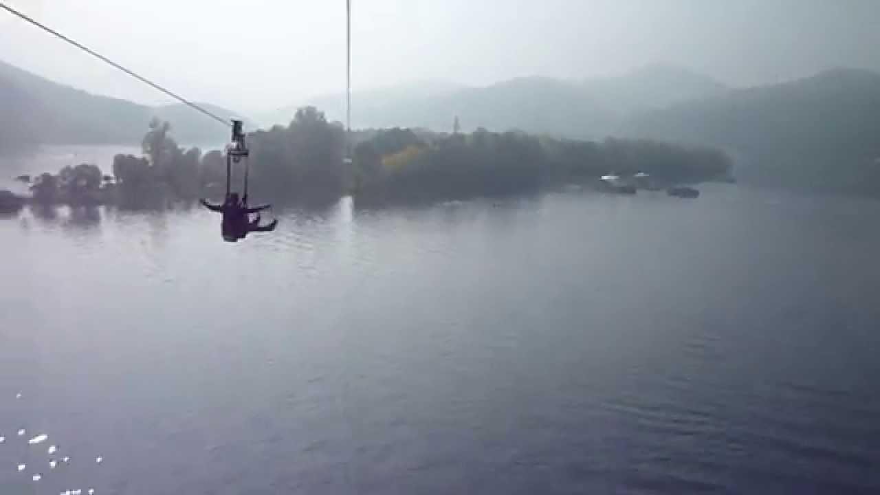 Skyline zip wire in Nami Island 남이섬 - YouTube