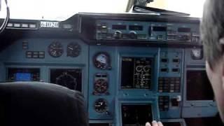Взлёт Ту 204 (Tu-204) видео из кабины