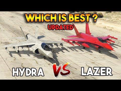 GTA 5 ONLINE : LAZER  VS HYDRA (WHICH IS BEST?) [updated]