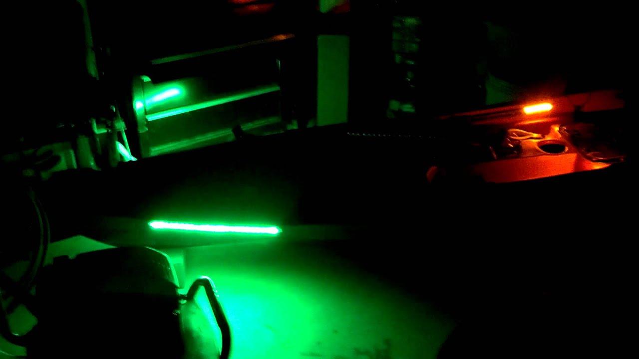 Kayak led lighting. - YouTube