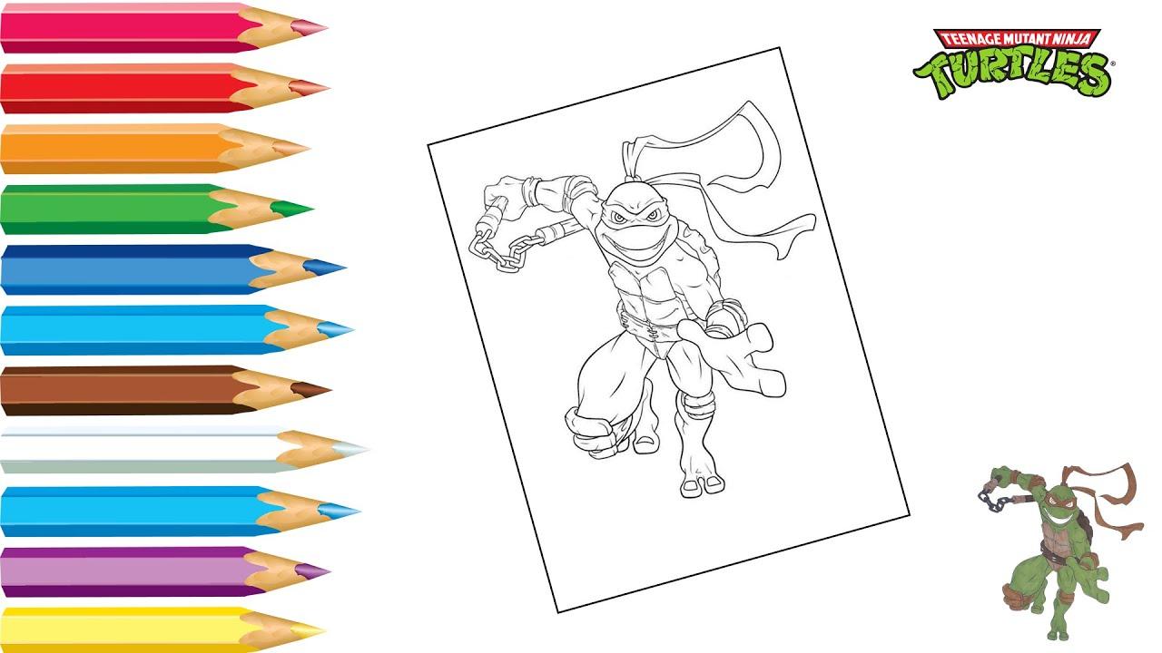 Раскраска Черепашки Ниндзя / Coloring Ninja Turtles / Как ...