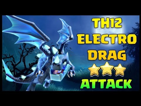 Electro Dragons Dominate On Town Hall 12! Perfect Attacks With EDrags From Clan War!