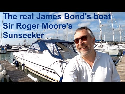 The real James Bond's boat : Sir Roger Moore's Sunseeker Tomahawk 41