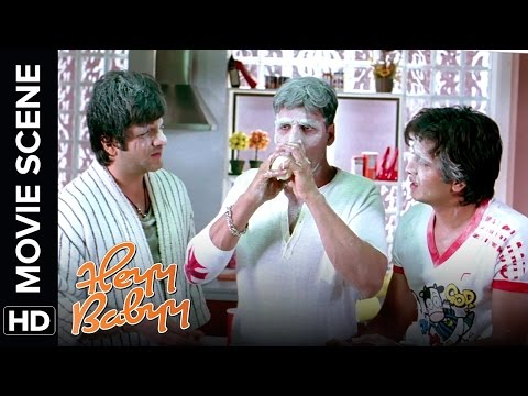 Akshay, Riteish and Fardeen's first time with a baby | Heyy Babyy | Movie Scene