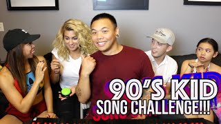 90's Kid Song Challenge - Jasmine & Tori Kelly vs TJ Brown & Justine | AJ Rafael