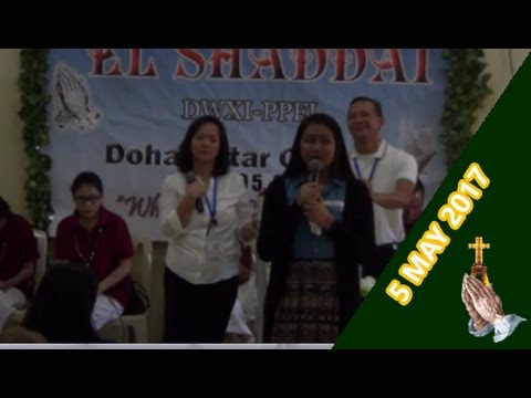 EL SHADDAI Doha Qatar Weekly Gawain - 05 May 2017 with Bro. Erick Landicho