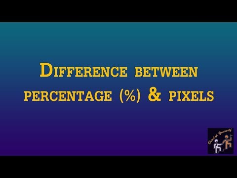 Part 9: Percentage (%) VS Pixel (px) In Html Urdu/Hindi