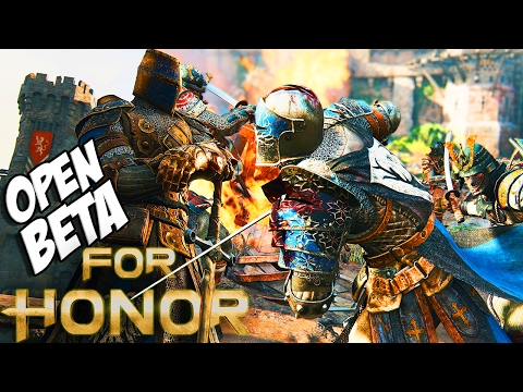 For Honor Open Beta: Playing ALL Characters & New Gametype! (For Honor PS4 Gameplay)