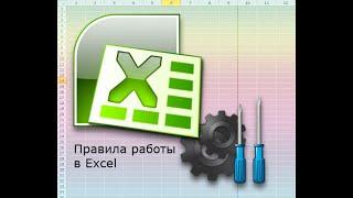 Видеоурок по правилам работы с электронными таблицами Excel