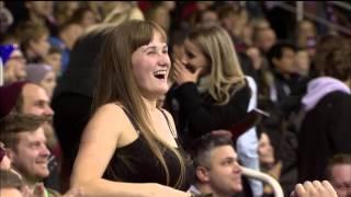 А на что ты готов ради хоккея? / Fan shows off her crazy support @ Riga - Ufa game