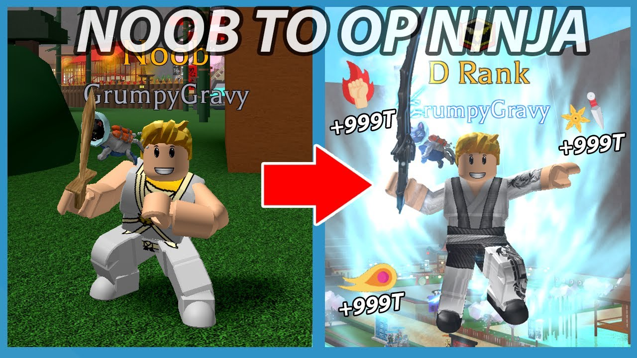 Noob Vs Roblox Op Ninja Simulator Youtube