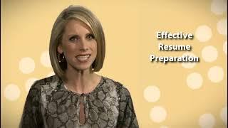 Effective Resume Preparation