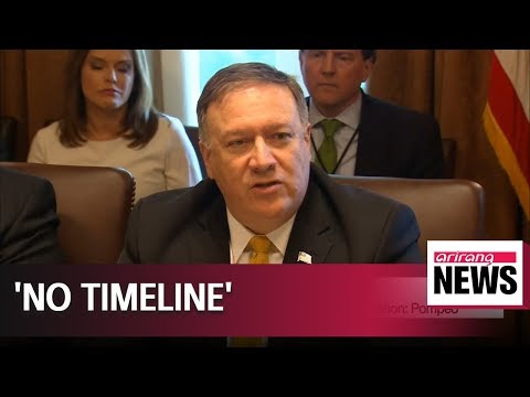 U.S. to set no timeline in regards to North Korea's denuclearization: Pompeo