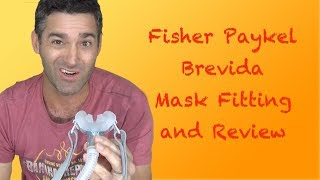 Fisher Paykel Brevida Nasal Pillow Mask Fitting and Review.  FreeCPAPAdvice.com