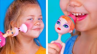 Never Too Old For Dolls! / 10 DIY Doll Makeup Ideas