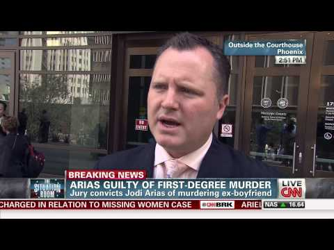 Chris Hughes after Jodi Arias First Degree Murder Conviction 05-08-13
