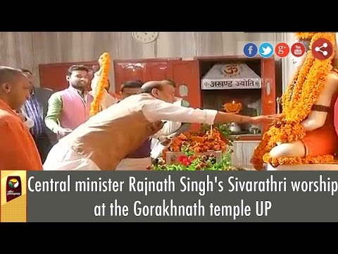 Central minister Rajnath Singh's Sivarathri worship at the Gorakhnath temple UP