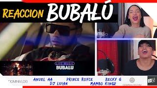 Bubalu - Anuel AA x Prince Royce x Becky G x Mambo Kingz x Dj Luian   Just Vlogging Reaccion