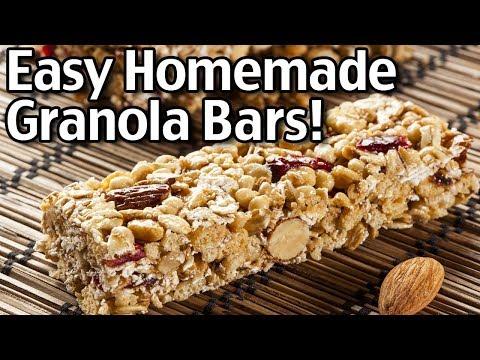 Easy Homemade Granola Bars Recipe - How To Make Granola Bars!