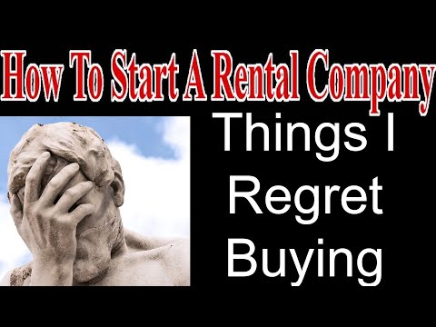 Things I Regret Buying - Start A Party Rental Company