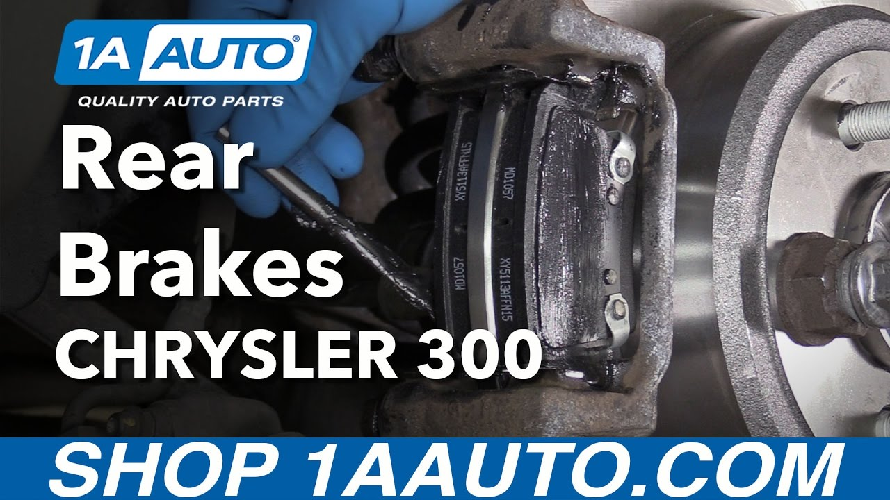 how to install replace rear brakes pads rotors 2005 14 chrysler 300 [ 1280 x 720 Pixel ]