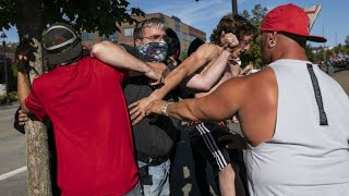 Trump supporters clash with Black Lives Matter protesters in Portland